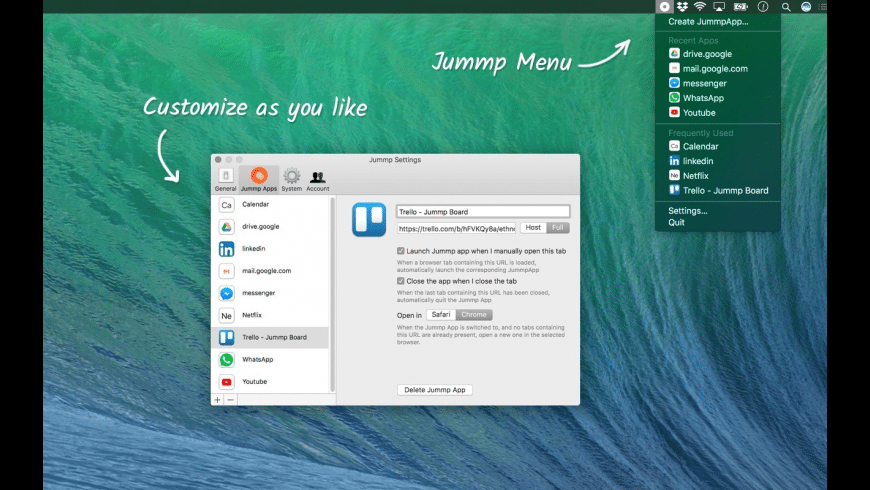 Jummp for Mac - review, screenshots