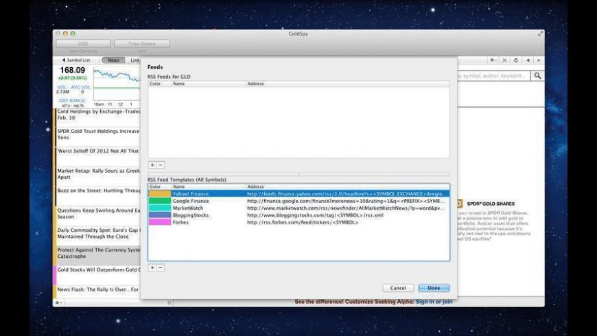 GoldSpy for Mac - review, screenshots