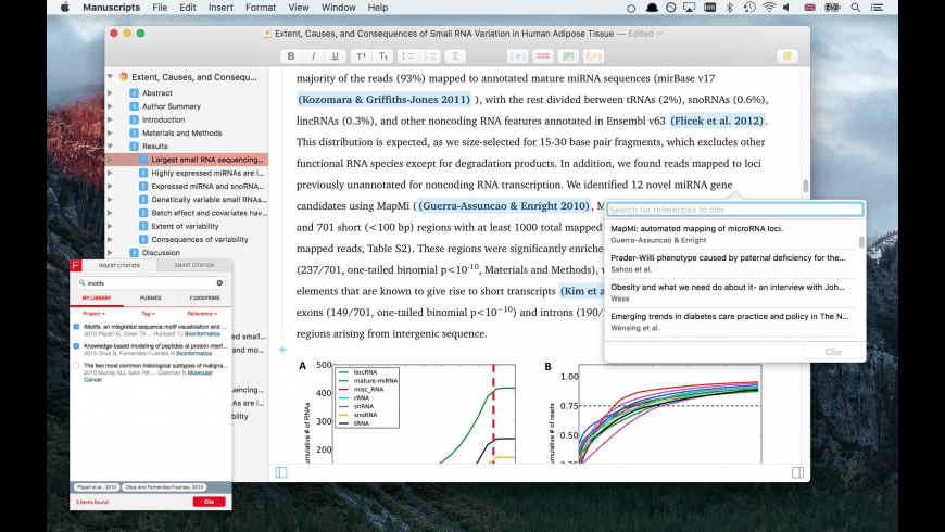 Manuscripts for Mac - review, screenshots