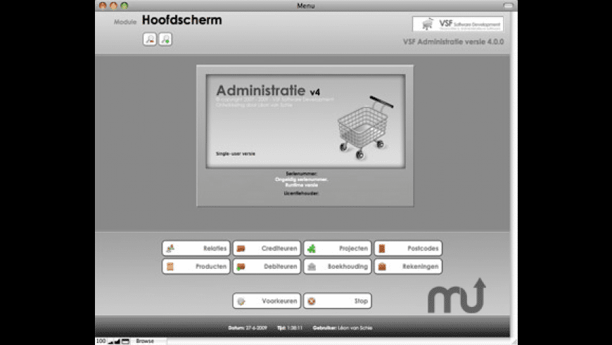 VSF Administratie for Mac - review, screenshots