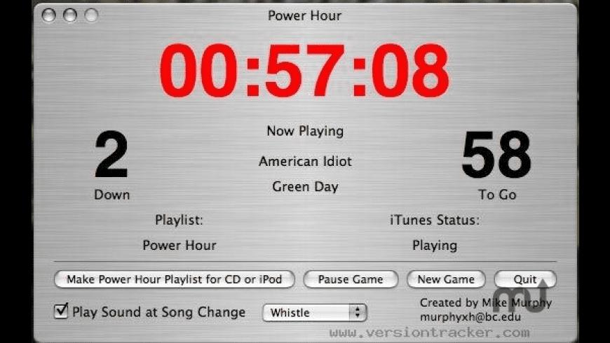 Power Hour for Mac - review, screenshots