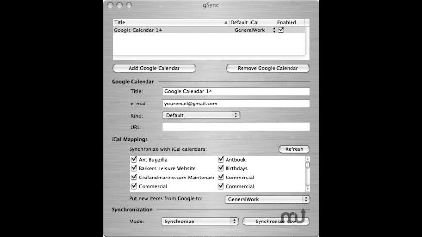 gSync for Mac - review, screenshots