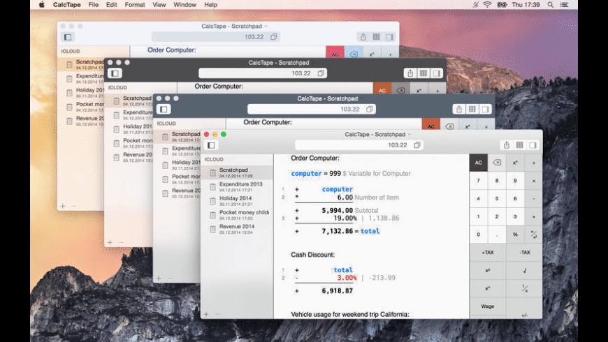 CalcTape for Mac - review, screenshots