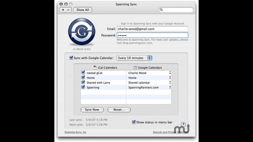 Spanning Sync for Mac - review, screenshots