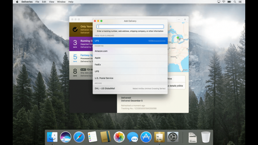 Deliveries for Mac - review, screenshots