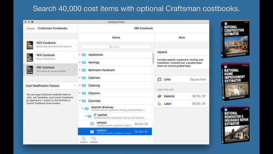 ContractorTools for Mac - review, screenshots