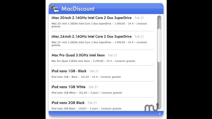 MacDiscount for Mac - review, screenshots