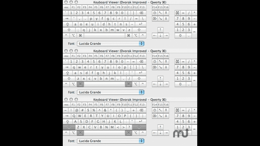 Dvorak Improved Keyboard Layout for Mac - review, screenshots