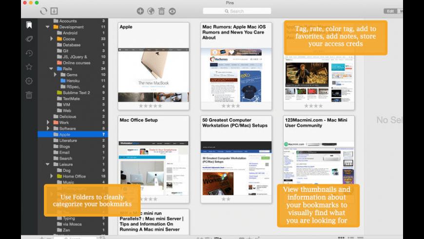 Pins for Mac - review, screenshots