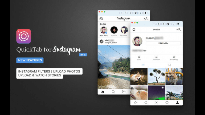 QuickTab for Instagram for Mac - review, screenshots
