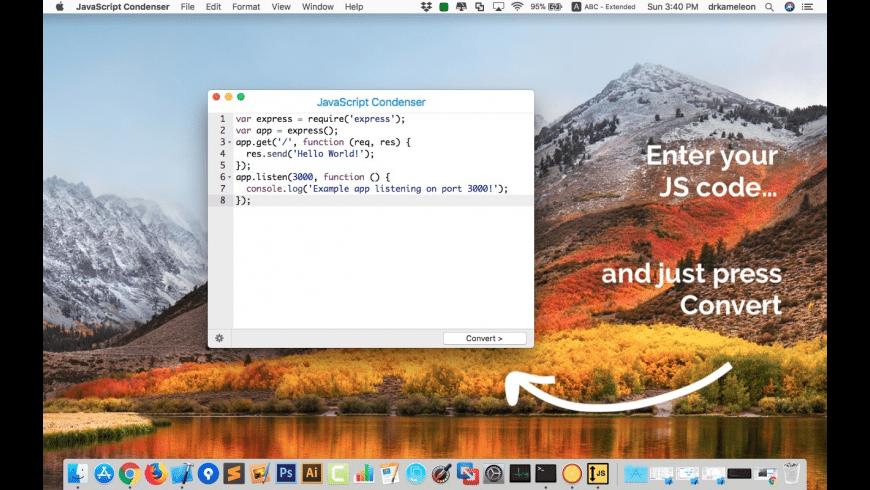 JavaScript Condenser for Mac - review, screenshots