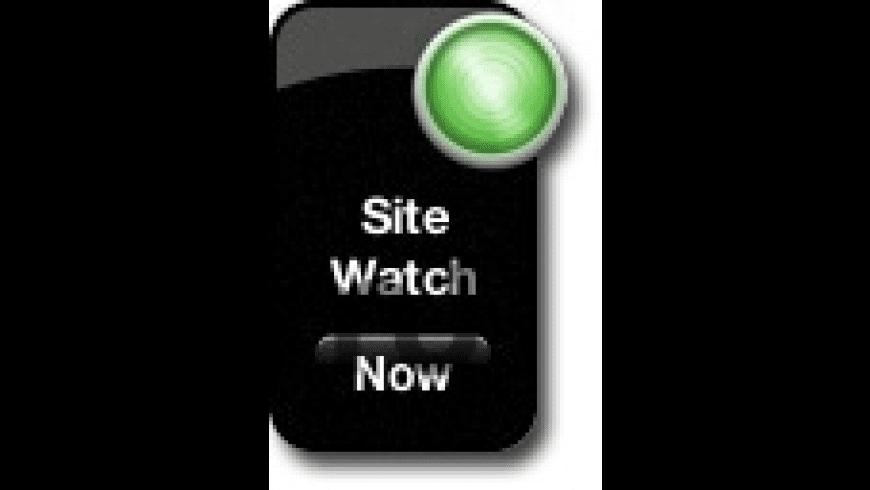 Site Watch for Mac - review, screenshots