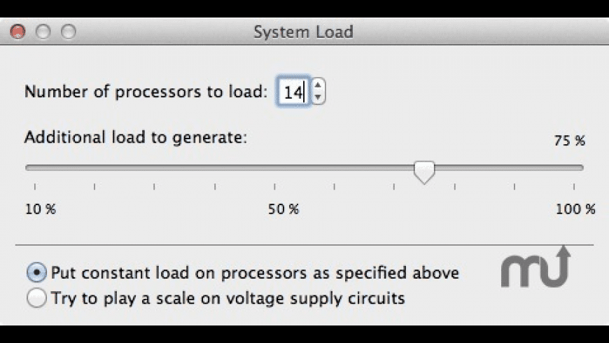 SystemLoad for Mac - review, screenshots