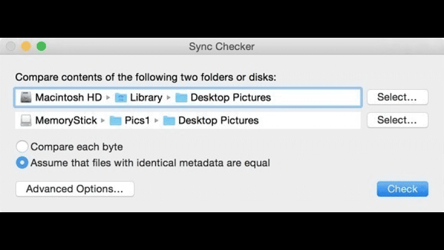 Sync Checker for Mac - review, screenshots