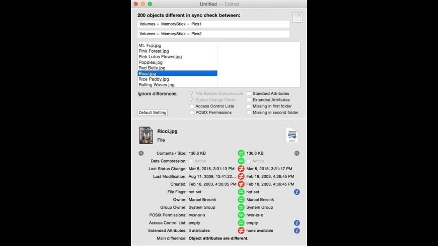 Sync Checker for Mac - review, screenshots