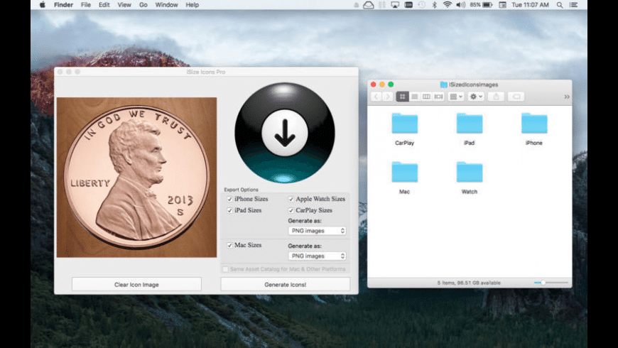 iSize Icons Pro for Mac - review, screenshots