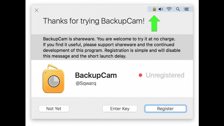 BackupCam for Mac - review, screenshots