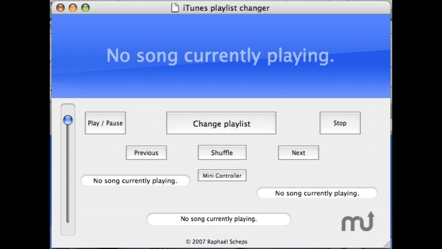 iTunes Playlist Changer for Mac - review, screenshots