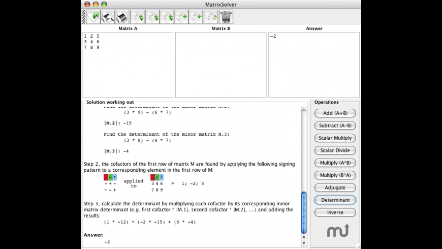 MatrixSolver for Mac - review, screenshots