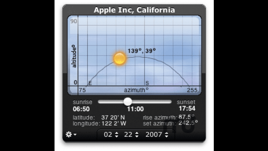SunPosition Widget for Mac - review, screenshots