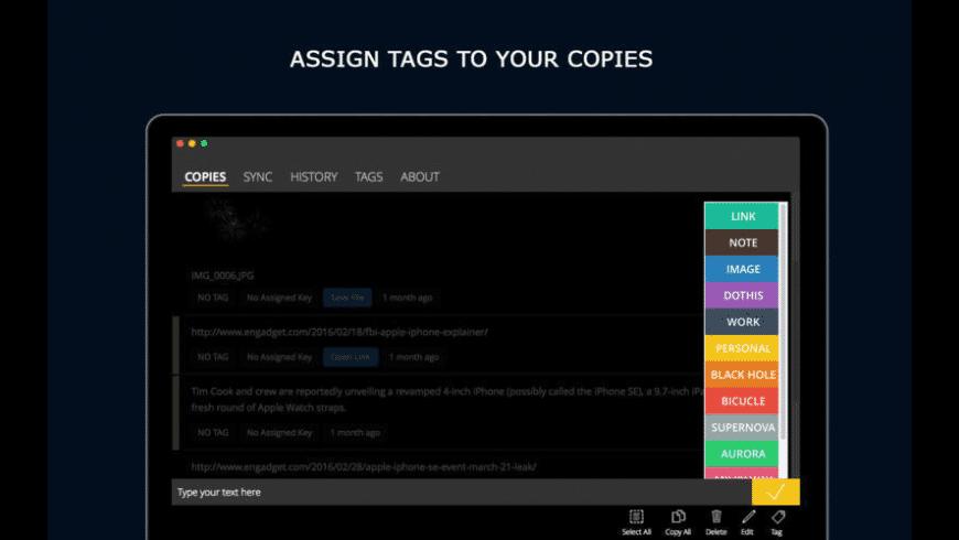 Copy Space for Mac - review, screenshots