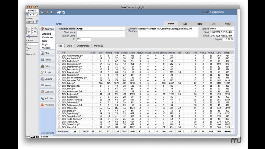 BaseElements for Mac - review, screenshots