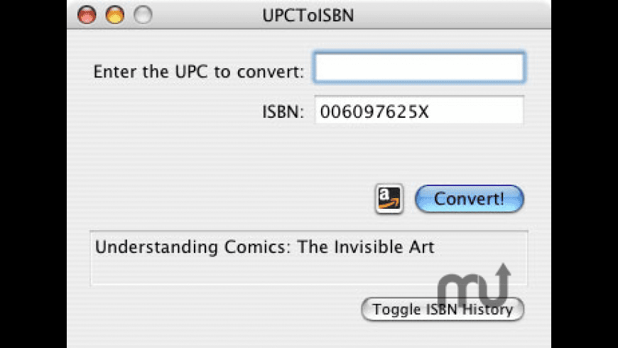 UPCToISBN for Mac - review, screenshots