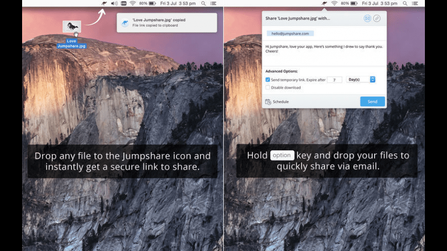 Jumpshare for Mac - review, screenshots