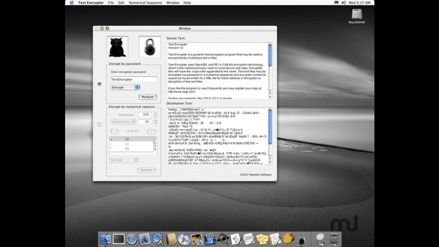 Text Encrypter for Mac - review, screenshots