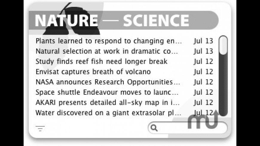 Nature and Science Widget for Mac - review, screenshots