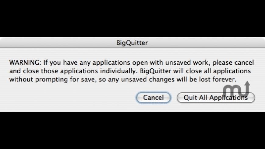 BigQuitter for Mac - review, screenshots