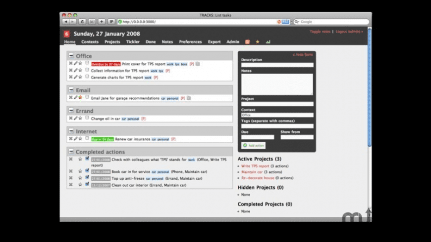 BitNami Tracks Stack for Mac - review, screenshots