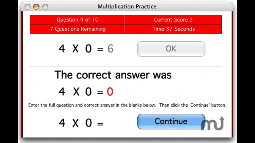 Master the Facts Multiplication for Mac - review, screenshots