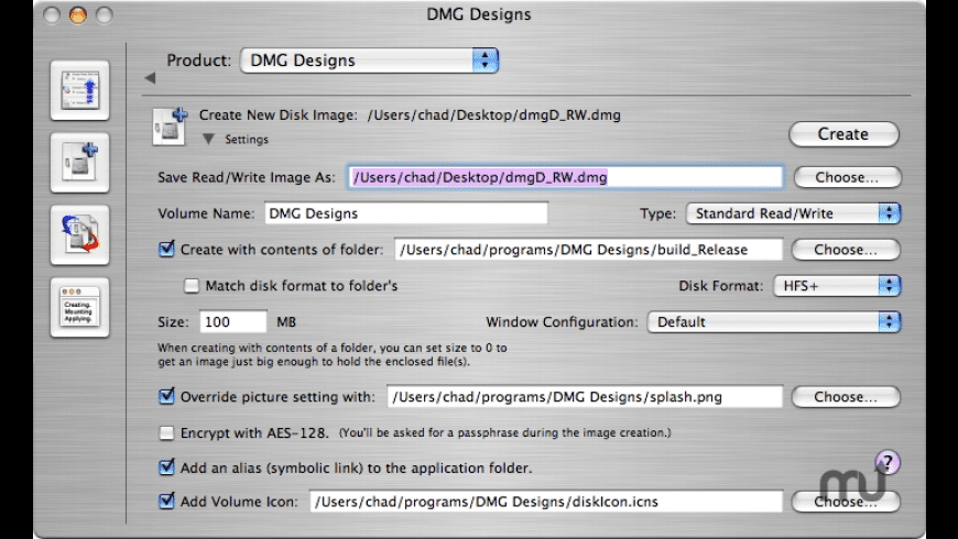 DMG Designs for Mac - review, screenshots