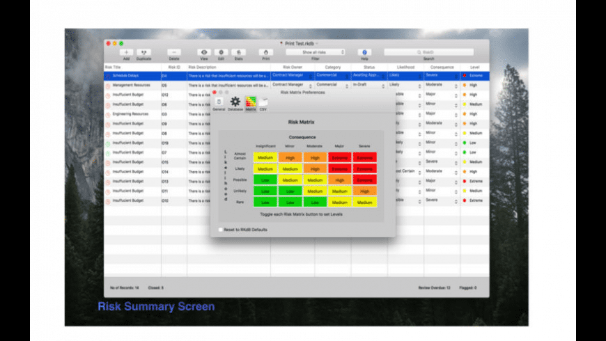 Risk Manager for Mac - review, screenshots