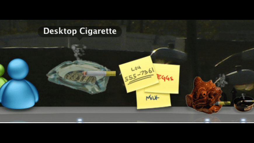 Desktop Cigarette for Mac - review, screenshots