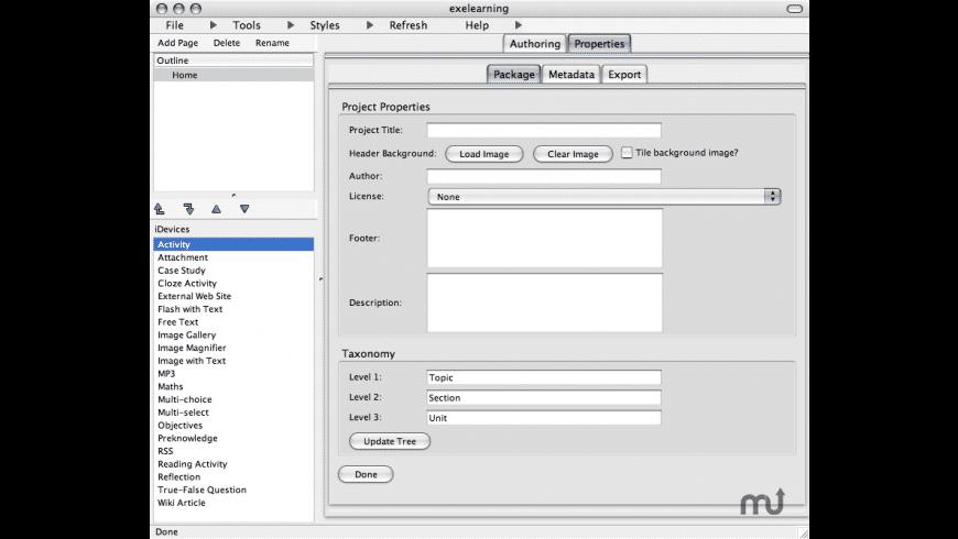 eXe for Mac - review, screenshots