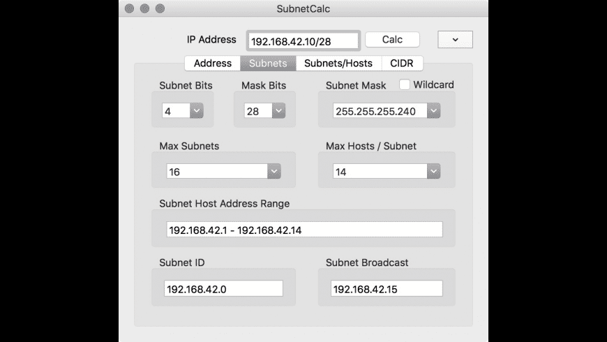 SubnetCalc for Mac - review, screenshots