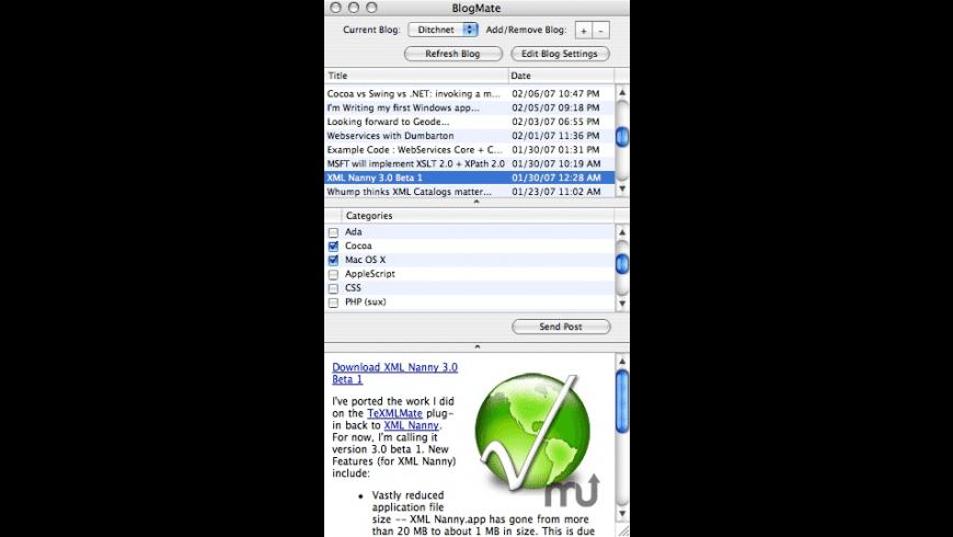 BlogMate for Mac - review, screenshots