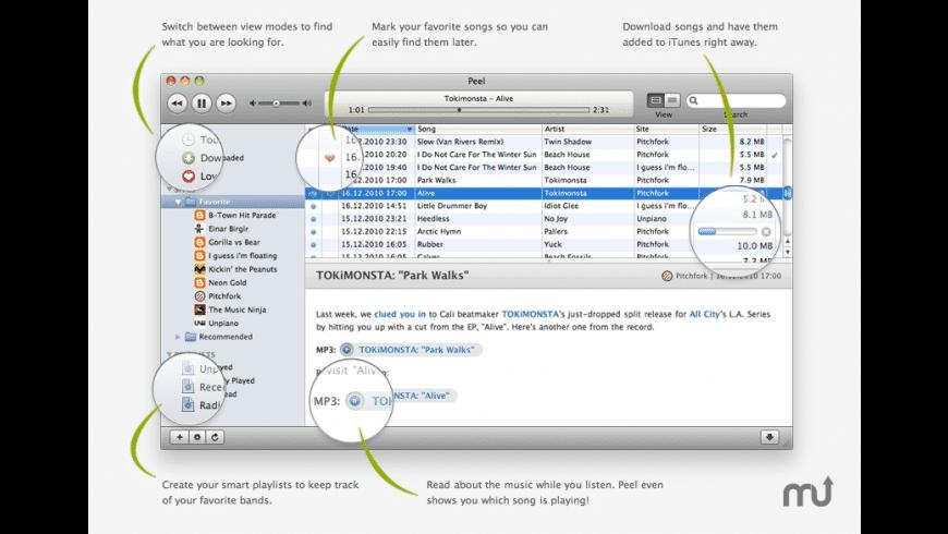 Peel for Mac - review, screenshots