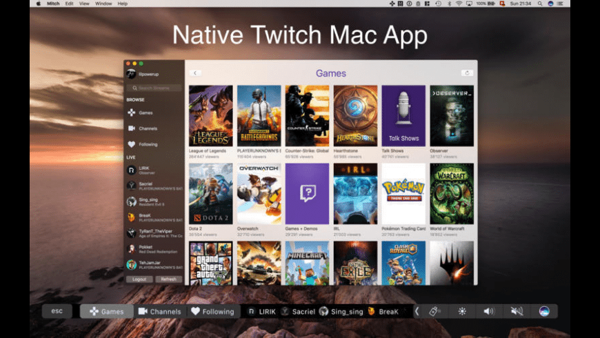 Mitch for Twitch for Mac - review, screenshots