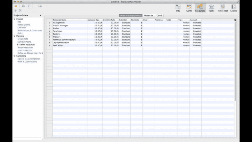 RationalPlan Project Viewer for Mac - review, screenshots