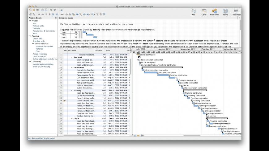 RationalPlan Single Project for Mac - review, screenshots