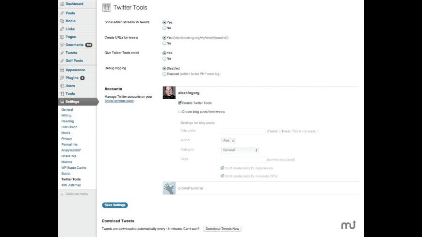 Twitter Tools for Mac - review, screenshots