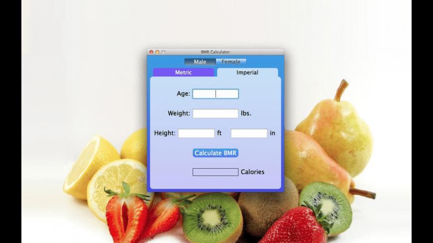 BMR Calculator for Mac - review, screenshots