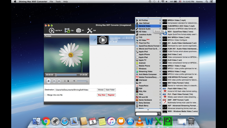 Shining MXF Converter for Mac - review, screenshots