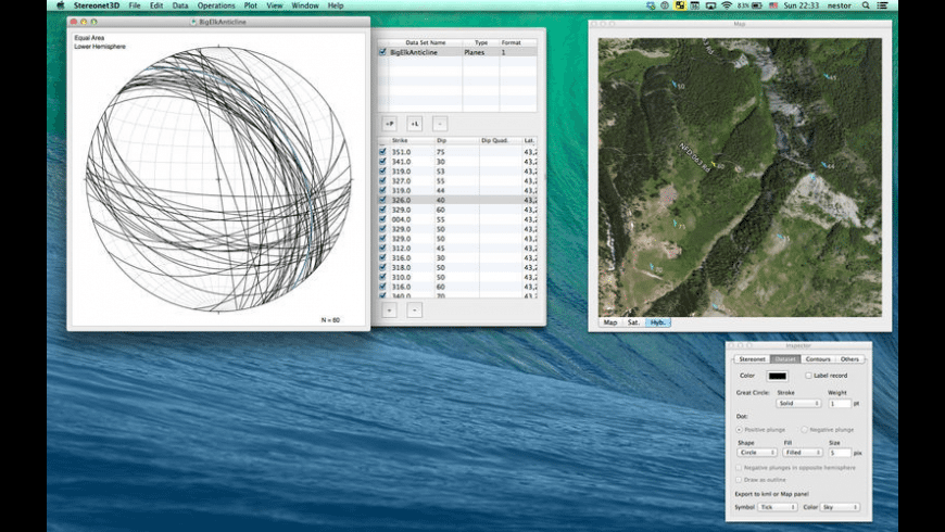 Stereonet3D for Mac - review, screenshots