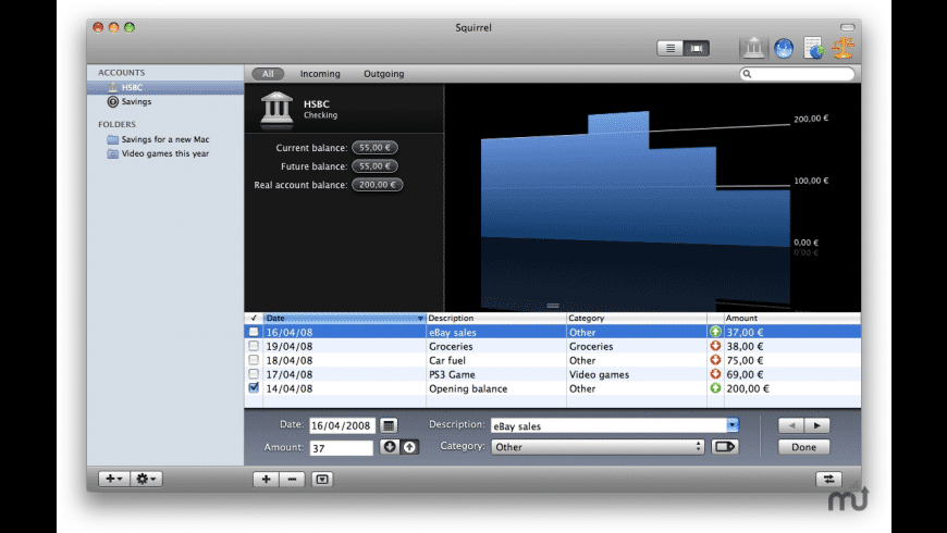 iBudget for Mac - review, screenshots