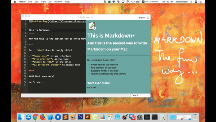Markdown+ for Mac - review, screenshots