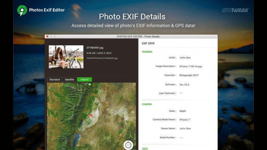 Photos Exif Editor for Mac - review, screenshots
